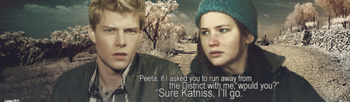 Peeta and Katniss - the-hunger-games Fan Art