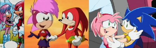 merah jambu Sonic Girls' Couples