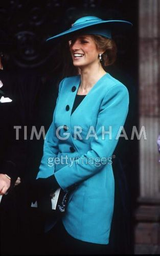 Princess Diana At The Society Wedding Of Miss Camilla Dunne