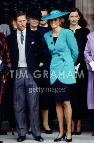 Princess Diana At The Society Wedding Of Miss Camilla Dunne