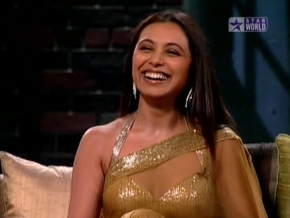 Are not Rani mukherjee hot transparent saree speaking
