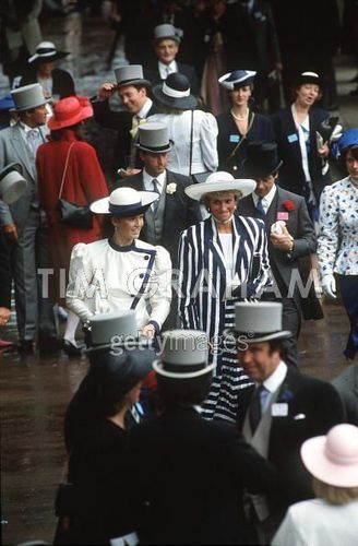 Sarah And Diana At Ascot Races