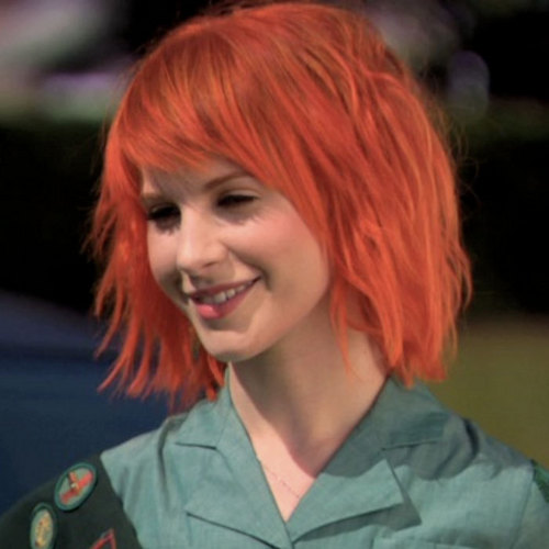 hayley williams hair images short bright orange hair