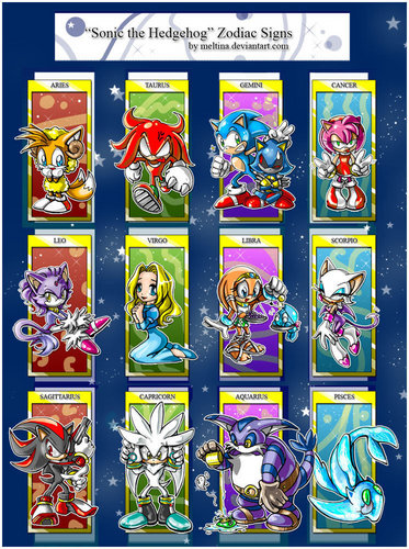 sonic the hedgehog wallpaper with a slot, a slot machine, and a stained glass window called Sonic Zodiac Chart