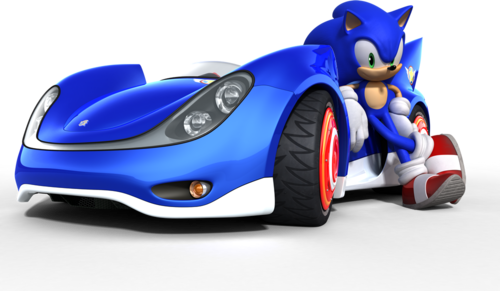 Sonic and His Car