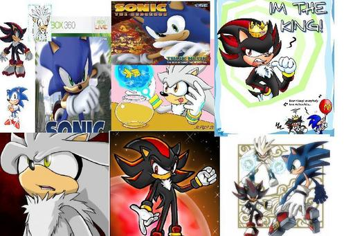 Sonic, Shadow, and Silver wallpaper probably with anime entitled The Collage of Stuff