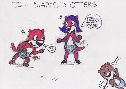 Three Little Diapered Otters