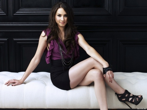 Pretty Little Liars wallpaper probably with tights and a leotard entitled Troian Avery