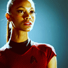 Zoë Saldaña as Uhura photo with a portrait called Uhura