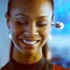 Zoë Saldaña as Uhura foto probably containing a portrait titled Uhura