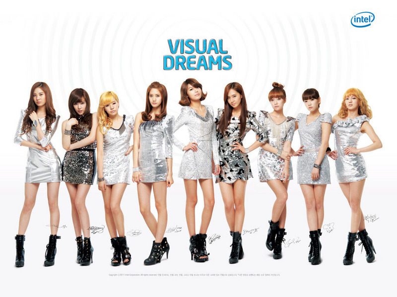 girl generation wallpaper. Visual Dreams Wallpaper (FULL