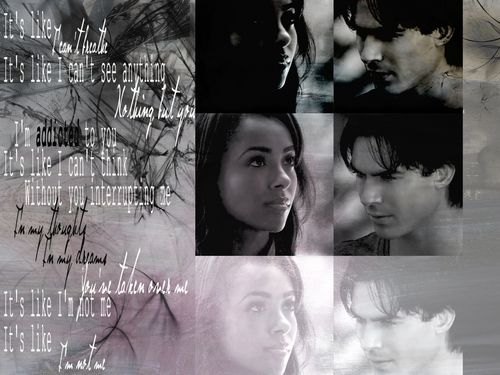 Damon & Bonnie wallpaper containing a dishwasher titled addicted