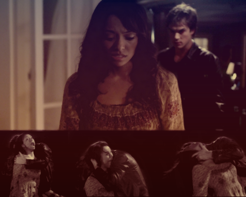 Damon & Bonnie wallpaper with a sign titled attack
