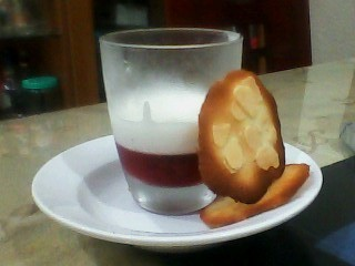 my fraise and yogurt pannacotta!!