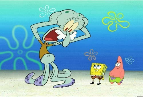 squidward is giant