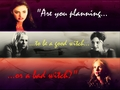 """Are you planning to be a good witch or a bad witch?""  - the-secret-circle-tv-show wallpaper"