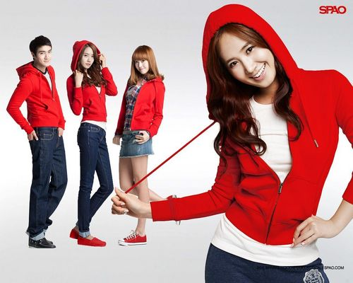 Super Generation: Super Junior & Girls' Generation wallpaper possibly with an outerwear, a box coat, and a legging called ♥SNSD and Super Junior – SPAO♥
