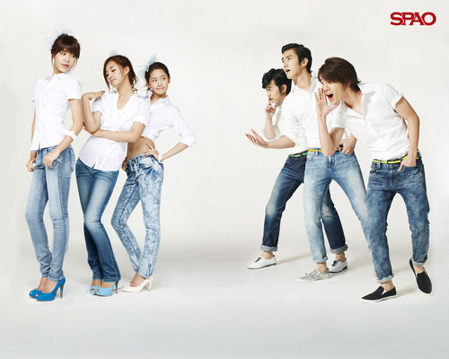 ♥SNSD and Super Junior – SPAO♥ - super-junior Wallpaper