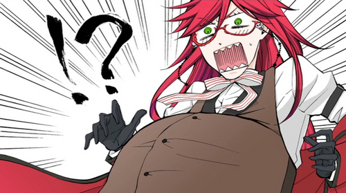 Grell Sutcliffe wallpaper possibly containing anime called !? What