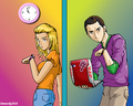 11am rule - penny-and-sheldon fan art
