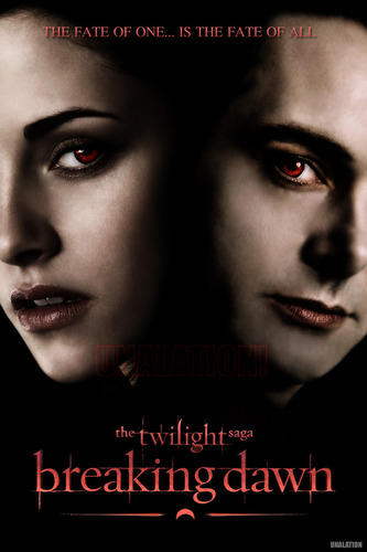 A fanmade 'Breaking Dawn' poster featuring Bella and Aro!