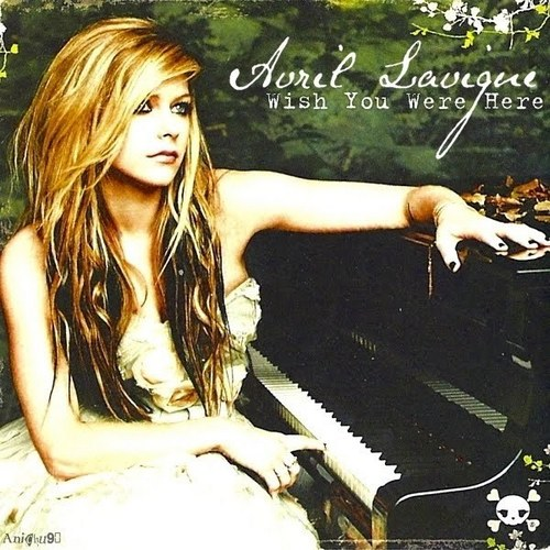 Selena_01 wallpaper with a pianist, a piano, and a grand piano entitled Avril Lavigne - Goodbye Lullaby Singles (FanMade Single Cover)