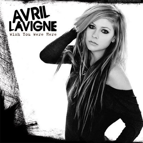 Selena_01 wallpaper probably containing a sign, a street, and a wickiup called Avril Lavigne - Goodbye Lullaby Singles (FanMade Single Cover)