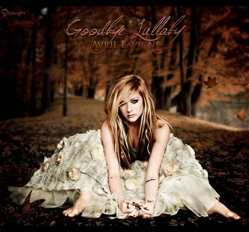 Selena_01 wallpaper possibly containing a portrait entitled Avril Lavigne - Goodbye Lullaby Singles (FanMade Single Cover)