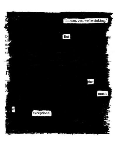 Blackout poem.