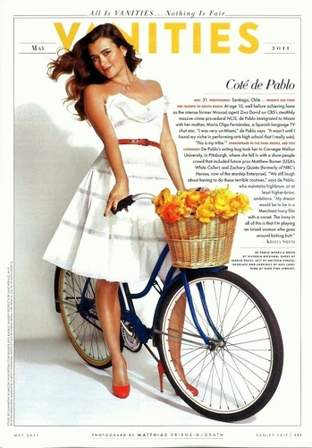 Cote de Pablo Vanity Fair (May 2011)