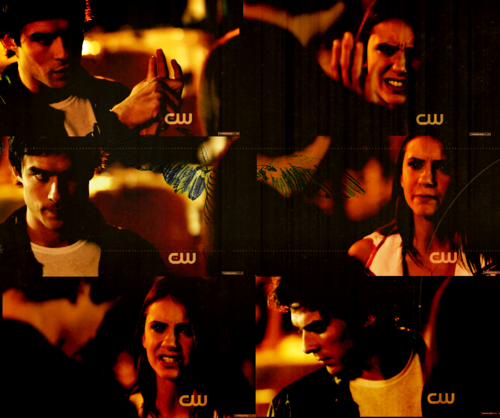 Damon&Elena and Ian&Nina Hintergrund titled DE<3
