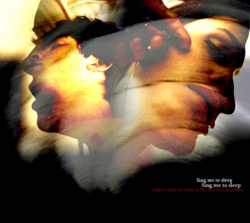 Damon&Elena and Ian&Nina achtergrond entitled DE<3