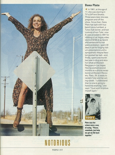 Dana Plato in People in 1994 oder 1995