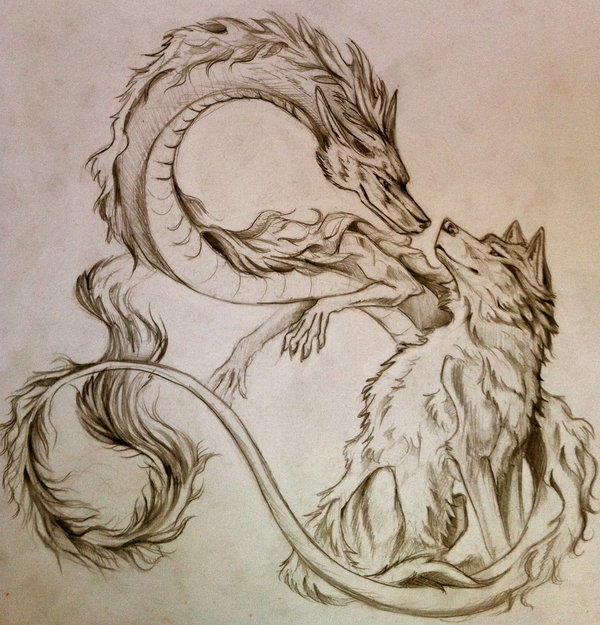 Dragon wolf Pictures