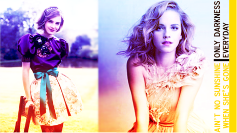 Harry Potter Vs. Twilight wallpaper probably with a portrait entitled Emma Watson Vanity Fair and Vogue Shoots :) x