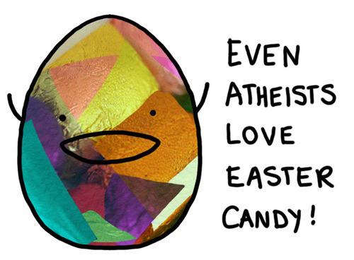 Atheism karatasi la kupamba ukuta called Even Atheists....