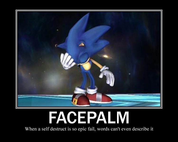 Sonic the hedgehog facepalm