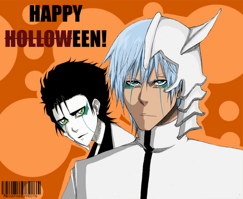 anime ya Bleach karatasi la kupamba ukuta with anime entitled GRIMMJOW Y ULQUIORRA