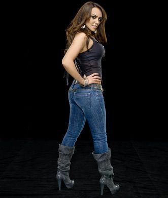 WWE LAYLA wallpaper possibly with bellbottom trousers, a pantleg, and long trousers called Gorgeous Layla