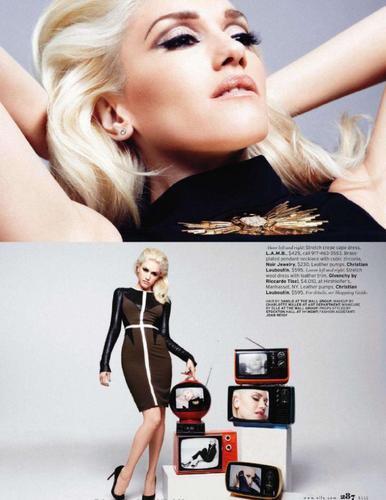 Gwen Stefani wallpaper containing a portrait called Gwen - Elle Magazine (May 2011)