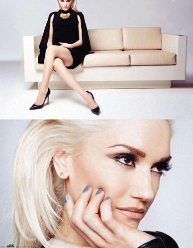 Gwen Stefani wallpaper possibly containing a portrait called Gwen - Elle Magazine (May 2011)