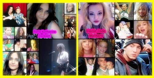 Hailie Mathers and Paris Jackson