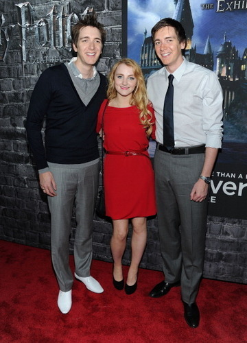 Harry Potter cast attend Deathly Hallows Part I & NYC Exhibition premiere