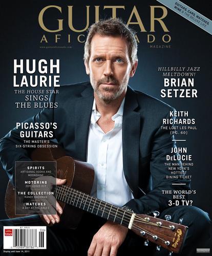 Hugh on the Cover of gitar Aficionado