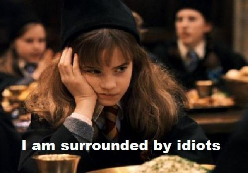 I am surrounded by idiots. - hermione-granger Photo