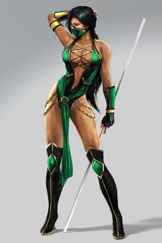 モータルコンバット 壁紙 probably with a hip boot called Jade from Mortal Kombat 9