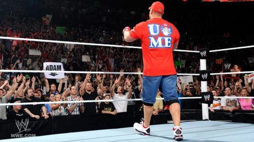 John Cena 4 april 2011 and red t-shirt