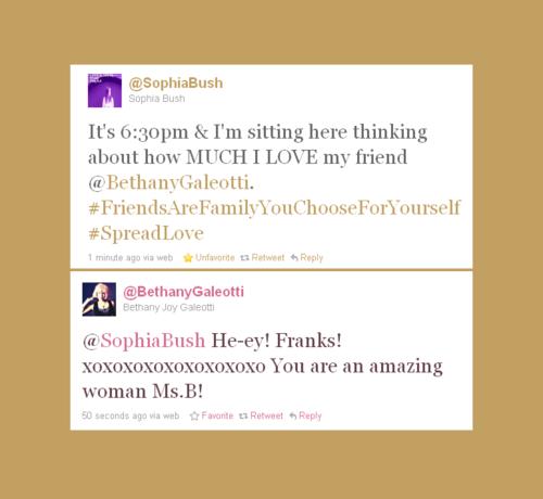 Joy and Sophia tweeting