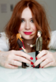Karen Gillan with her action figure ♥