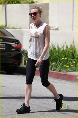 Kirsten Dunst Works Up a Sweat